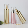 60ml 120ml gold and pink acrylic cosmetic skin care bottle in stock