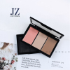 Jinze square 3 colors eyeshadow empty plastic case blusher palette packaging with window